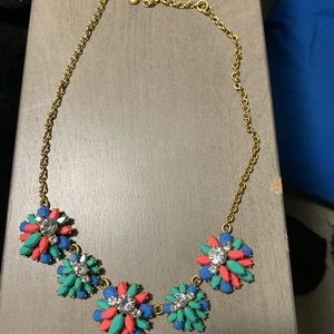 J. Crew Flower burst necklace